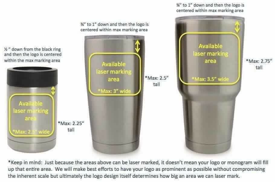 Sizing Logos And Monograms On Yeti Cups Htv Addicts