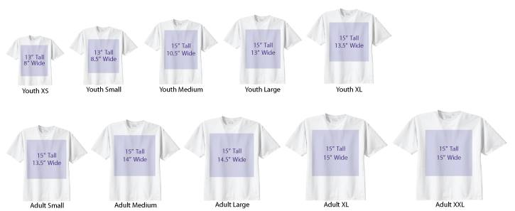 t-shirt-alignment & sizing